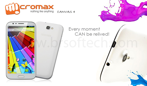 micromax canvas 4 launch in india