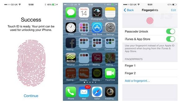 iphone 5s Touch ID Fingerprint scanner Hacked