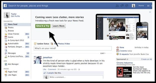 Facebook boosting to set more newsfeed