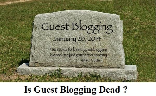 is guest blogging dead