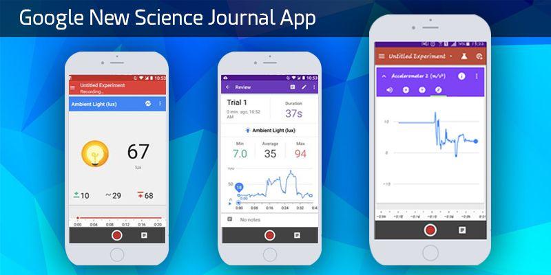 Google New Science Journal app