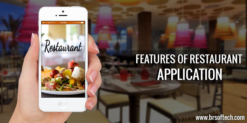 Features of Restaurant application