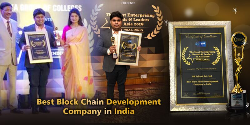 awarded as a Best Blockchain development company in India