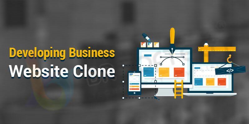 Developing Business Website Clone