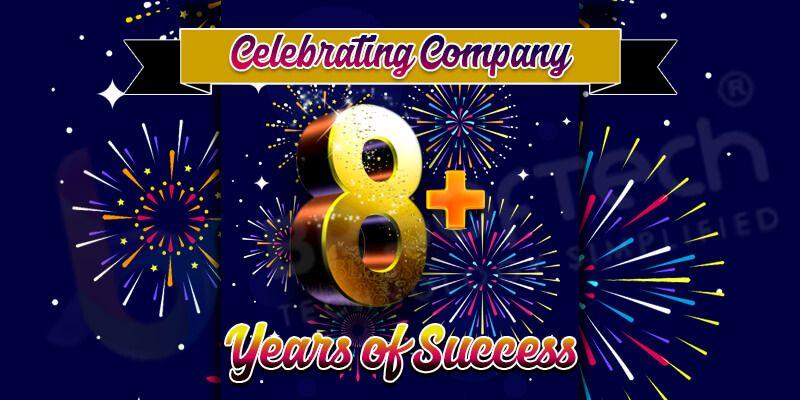 celebrating company 8 years of success
