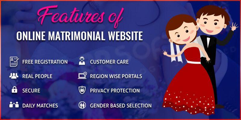 Features of Online Matrimonial Website