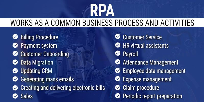 RPA works as a Common Business process and Activities