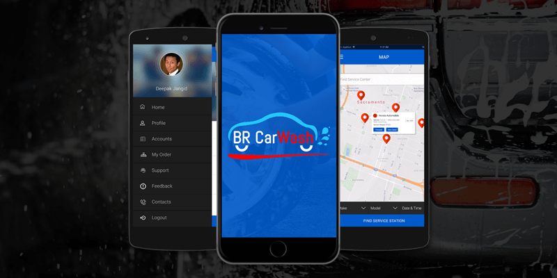 Car Cleaning Mobile App Customer Panel