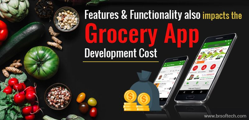 Features & Functionality also impacts the Grocery App Development Cost
