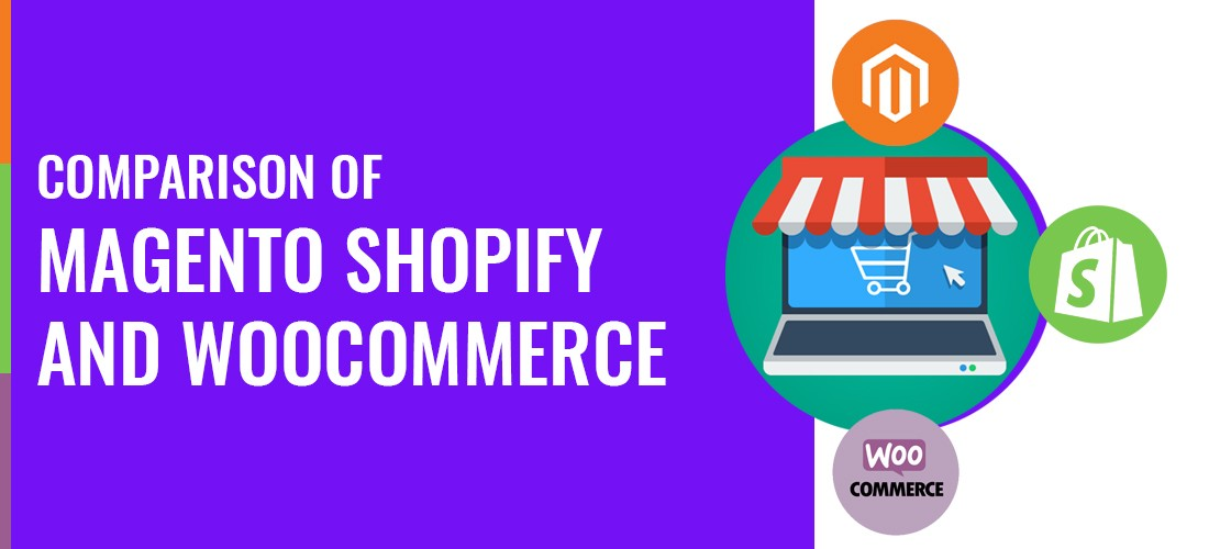 comparison of Magento Shopify and WooCommerce