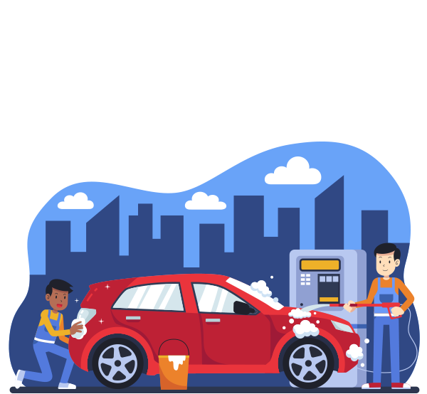 On-demand car wash application