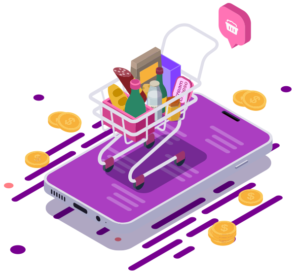 On-demand grocery delivery application